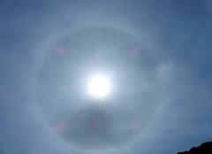 Ciel Maulevrier 49360  un phénomène de halo solaire.