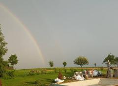 Orage Gendrey 39350 Arc en ciel avant la grêle