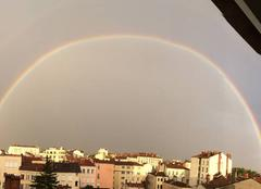 Ciel Lyon 69004 Superbe arc en ciel au dessus de La Croix rousse