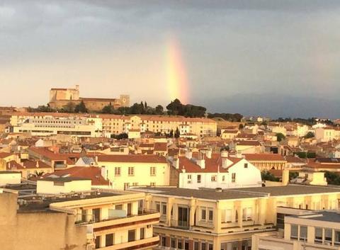 Superbe vue ce soir à Perpignan