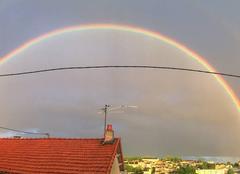 Ciel Poitiers 86000 Double arc en ciel Poitiers panoramique