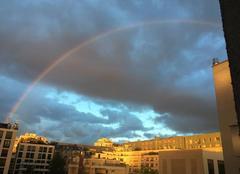 Ciel Boulogne-Billancourt 92100 Arc en ciel sur le centre ville
