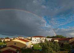 Ciel Rillieux-la-Pape 69140 Arc en ciel sue la banlieue lyonnaise