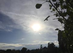 Nuages Mours-Saint-Eusebe 26540 Soleil voilé en soirée