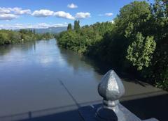 Ciel Romans-sur-Isere 26100 Berges d'Isère depuis le Pont Neuf
