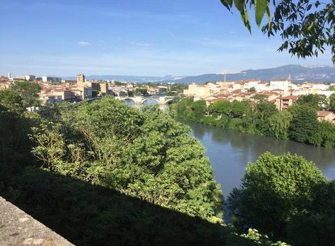 Panoramique de l'Isère cet après-midi