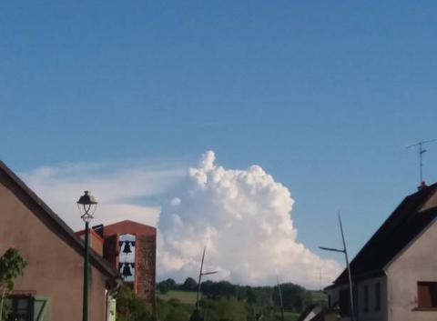 Un nuage d'orage.