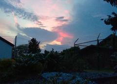 Orage Gouvy Orage+ coucher de soleil