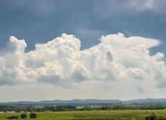 Orage Sarrebourg 57400 Formation orageuse sur les vosges photos prise depuis sarrebourg 57