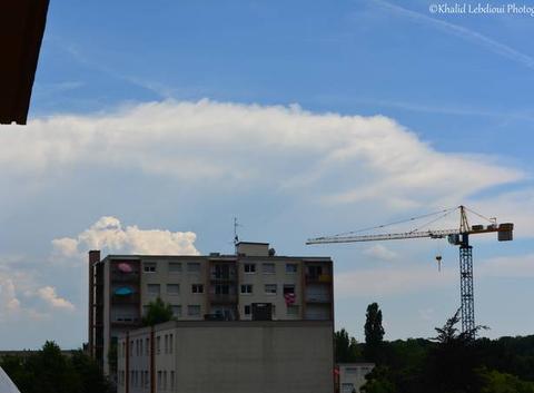 Cumulonimbus en Allemagne, vue depuis la plaine d'Alsace