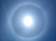Ciel Landevieille 85220 Halo solaire