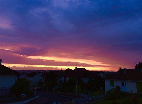Ciel après la pluie à Panazol