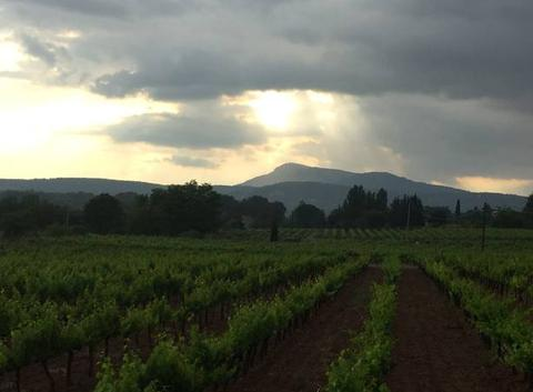 Thunderstorms over Cotignac