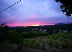 Ciel Roquefort-la-Bedoule 13830 Coucher de soleil