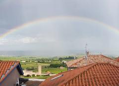 Ciel Saint-Etienne-la-Varenne 69460 Arc en ciel sur le beaujolais.