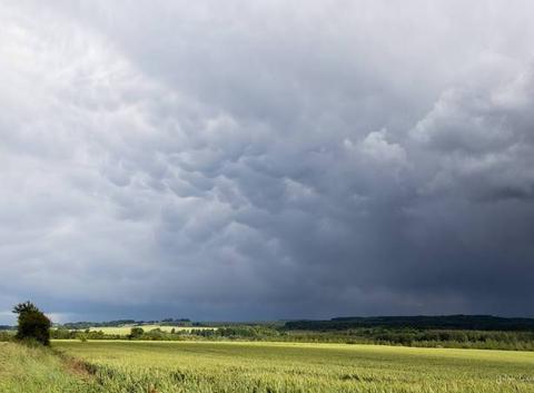 Orage 9 degrés au mois de juin