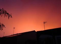 Ciel La Roche-sur-Yon 85000 Rouge avant l'orage