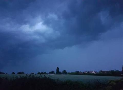 Arrivée d'un gros orage
