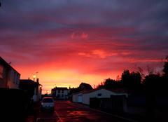 Ciel Villedieu-la-Blouere 49450 COUCHER DE SOLEIL a VILLEDIEU la BLOUERE