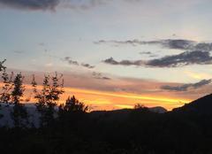 Ciel Vizille 38220 Coucher de soleil sur le vercors