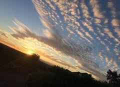 Ciel Aiglemont 08090 Coucher de soleil