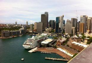 Chaleur Sydney Le port de Sydney vu de Harbour bridge