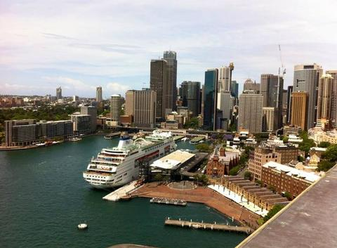 Le port de Sydney vu de Harbour bridge