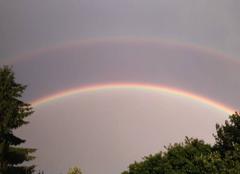Ciel Crehange 57690 Double arc en ciel vu le 6 juin 2017 à 21h10 à Créhange.