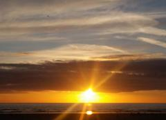 Mer Merlimont 62155 Coucher de soleil