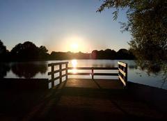 Ciel Saint-Macaire-en-Mauges 49450 Coucher de soleil sur étang...!