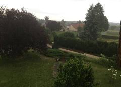 Orage Doyet 03170 Après la chaleur forte de ce jour, la pluie arrive