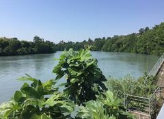 Chaleur Romans-sur-Isere 26100 Quais d'Isère sous soleil de plomb