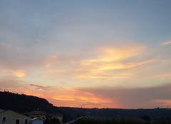 Ciel Saint-Barthelemy-de-Vals 26240 Coucher de soleil