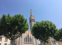 Chaleur Romans-sur-Isere 26100 Canicule sur la ville et Notre-Dame