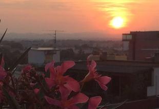 Ciel Perpignan 66100 Presque coucher de soleil de la terrasse