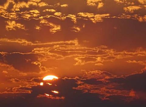 Coucher de soleil sur Le Crès
