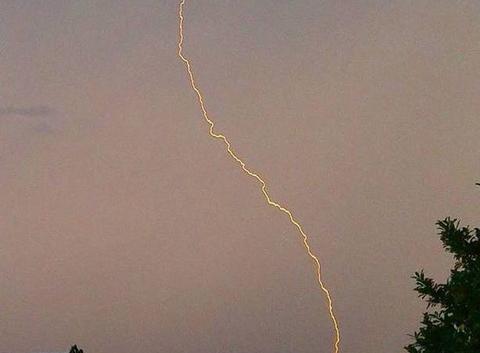 Vue d'orage en Ardèche ou dans la Drôme