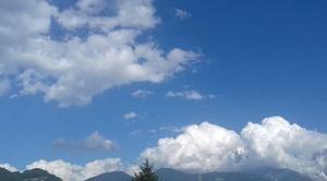 Nuages Sallanches 74700 Mont-Blanc ennuagé