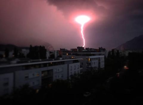 Orage sur Grenoble