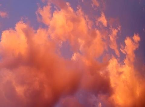 Nuages flamboyants