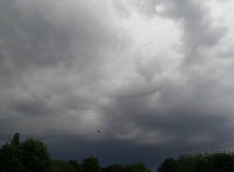 Arrivée d'un orage