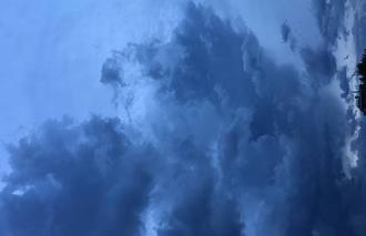 Nuages Caluire-et-Cuire 69300 Ciel chaotique sur Lyon avant l'arrivée des orages
