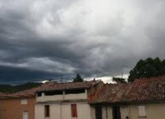 Orage Saint-Ambroix 30500 L'orage approche
