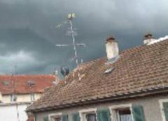 Orage Huningue 68330 Avant l'orage