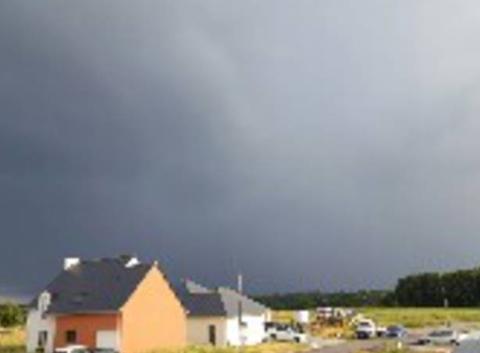 Bel orage en préparation