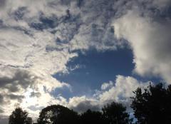 Ciel Plouha 22580 Une percée de bleu dans le ciel ennuagé