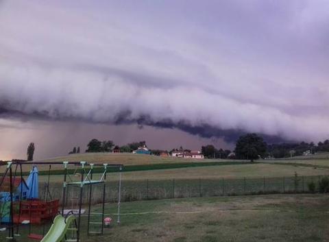 Arrivée de l'orage,