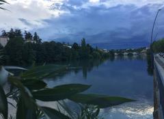 Ciel Romans-sur-Isere 26100 Quais d'Isère ce soir, après la pluie, au soleil couchant