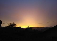 Orage Eschbach-au-Val 68140 Coucher de soleil après orage