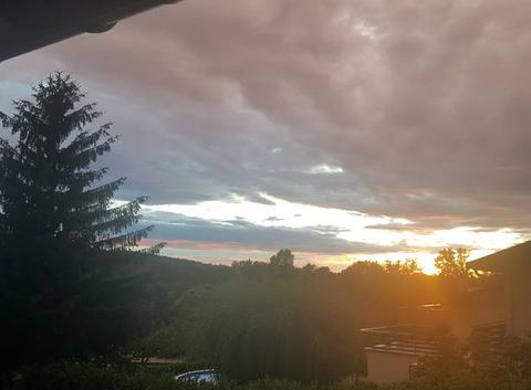 Couché de soleil après orage